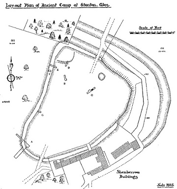 Shenberrow Hillfort map